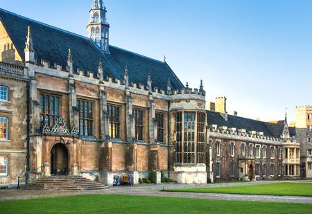 est: CAMBRIDGE, UK - JANUARY 18, 2015: Trinity college inner yard, est. 1546