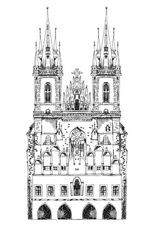 praha: Prague cathedral, sketch collection