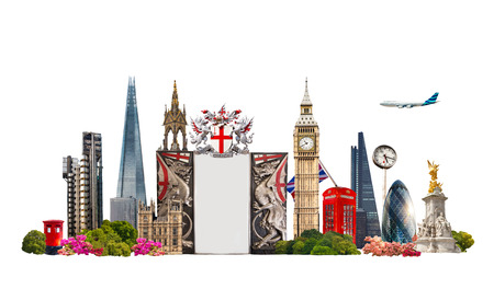 London. Famous buildings of London, Travel and business background photo