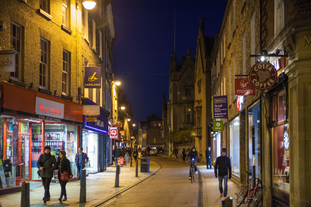 great hall: CAMBRIDGE, UK - JANUARY 18, 2015: King passage in the night Editorial