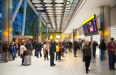 airport business: LONDON, UK - MARCH 28, 2015: Heathrow airport Terminal 5