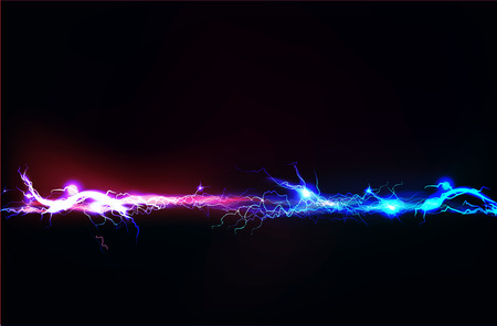 thunder storm: Abstract made of Electric lighting effect Stock Photo