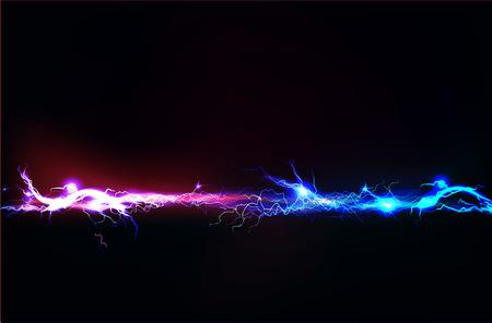 descarga electrica: Abstracta hecha de efecto de iluminación eléctrica
