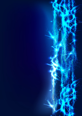 lightning strike: Abstract made of Electric lighting effect Stock Photo