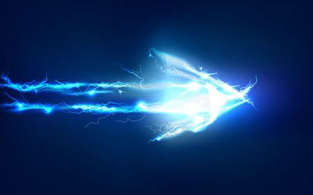 rayo electrico: Flecha, abstracto hecho de efecto de iluminación eléctrica