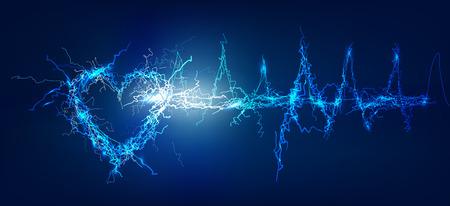 Hart, Abstract achtergrond gemaakt van elektrische verlichting effect
