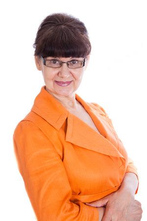 damas antiguas: La edad de jubilación buen retrato de la mujer que mira