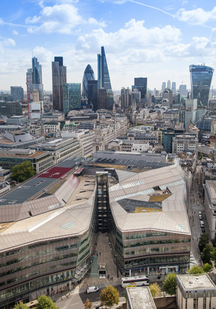 centres: LONDON UK  AUGUST 9 2014 London view. City of London one of the leading centres of global finance Editorial