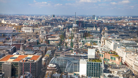 water scape: LONDON UK  APRIL 22 2015: City of London panorama Editorial