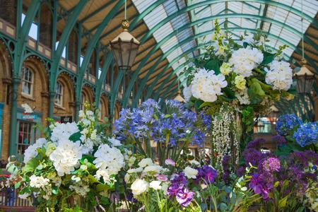 LONDON UK 22 JULY 2014: Flower Shop Covent Garden Market One.. Stock ...
