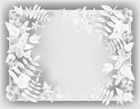 keywords backdrop: Paper background with flowers and space for text