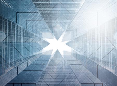 quartier g�n�ral: Composition architecturale faite de b�timents corporatifs. Abstract business background