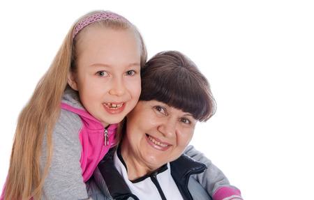 granddaughter: Senior lady with granddaughter portrait