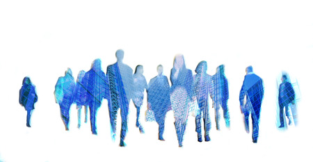 Business people moving blur. People walking in rush hour. Business and modern life concept 스톡 콘텐츠