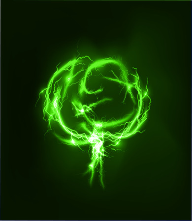 lighting effect: Tree Abstract background made of Electric lighting effect