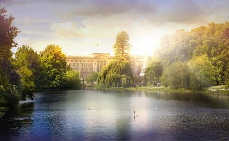 royal park: St. James park in sunset London