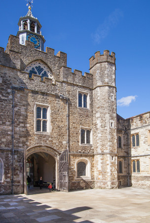 old english: SUSSEX UK  APRIL 11 2015: Sevenoaks  Old english mansion 15th century. Classic english country side house