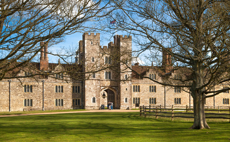 manor house: SUSSEX UK  APRIL 11 2015: Sevenoaks  Old english mansion 15th century. Classic english country side house