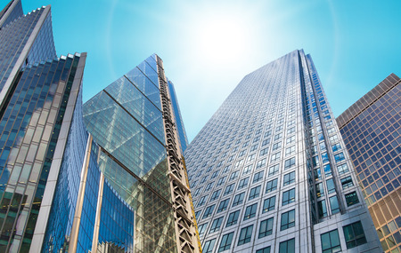 abstract london: Architectural composition made of modern buildings. Abstract business background