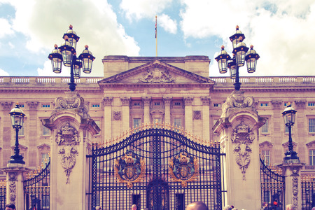 buckingham palace: LONDON UK  MAY 14 2014: Buckingham Palace and gate