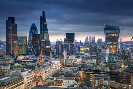 LONDON, UK - JANUARY 27, 2015: panoramic view City of London 報道画像