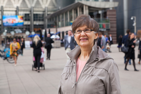 good looking woman: Pension age good looking woman portrait in the City