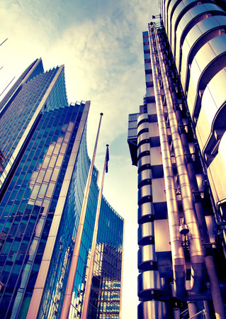lloyds: London, Lloyds bank Stock Photo