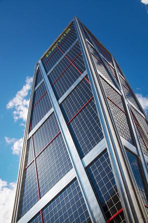 cuatro: MADRID, SPAIN - MAY 28, 2015: Madrid city, business centre, modern skyscrapers, Cuatro Torres