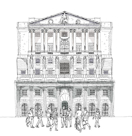 listed buildings: Bank of England, London. Sketch collection