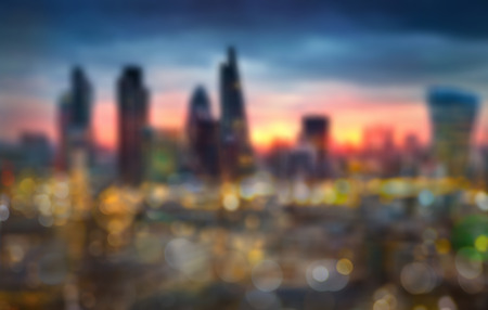 london street: London at sunset, blur Stock Photo