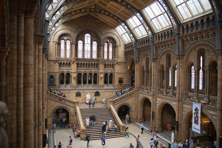 popular science: LONDON, UK - AUGUST 11, 2014: National History Museum, is one of the most favourite museum for families in London.