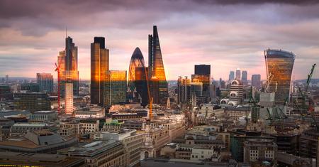 f 15: LONDON, UK - APRIL 15, 2015: City f London Panorama at sunset Editorial
