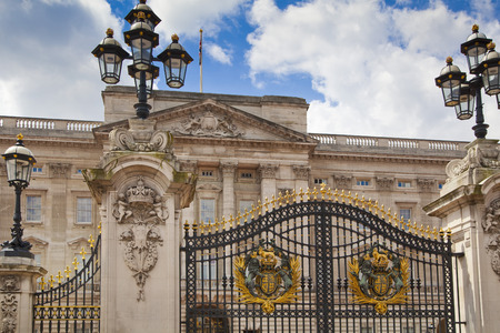elizabeth: LONDON, UK - MAY 14, 2014: Buckingham Palace the official residence of Queen Elizabeth II Editorial