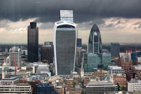 london skyline: City of London panorama with modern skyscrapers.
