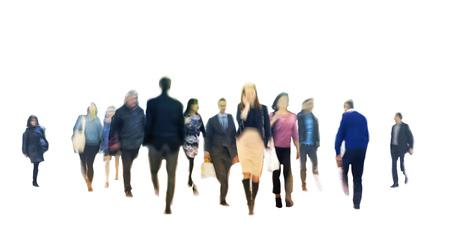 personas en la calle: la gente de negocios a pie composici�n