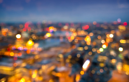 London at sunset. City background. Night lights