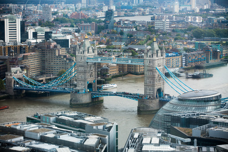 dealings: LONDON, UK - SEPTEMBER 17, 2015: City of London panorama with Tower bridge