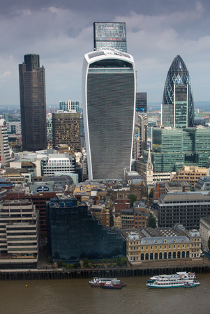 lloyds: modern skyscrapers. Gherkin, Walkie-Talkie, Tower 42, Lloyds bank. Business and banking aria