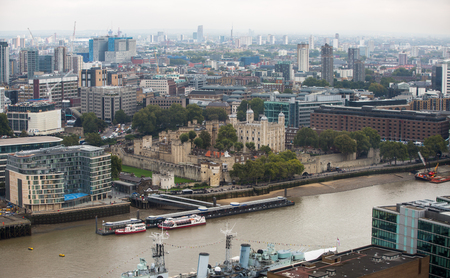dealings: LONDON, UK - SEPTEMBER 17, 2015: Tower of London and River Thames Editorial