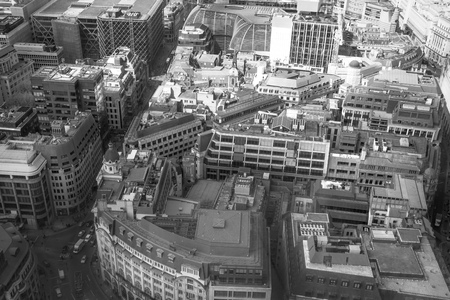 seance: City of London  in early morning atmosphere, Tower bridge and and River Thames. London panorama form 32 floor of Walkie-Talkie building