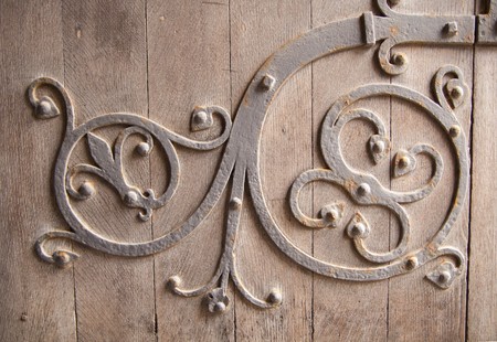 palaces: Old castle door decoration, Background