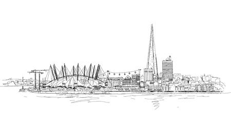 arena: London arena  of Glass sketch Illustration