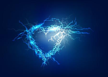 Herz, Abstrakter Hintergrund des Elektrolichteffekt machte Standard-Bild - 47799526