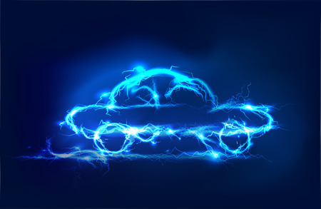 Car, Abstract background made of Electric lighting effect Stock Photo