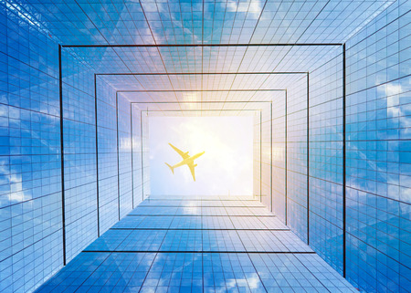 corporative: Architectural composition made of corporative buildings. Abstract business background