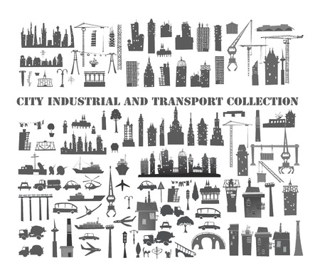 infrastructure: Big city, industrial and transportation set