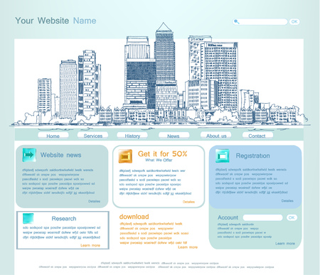 office buildings: Web page template with capital illustration Web page template with capital illustration Stock Photo