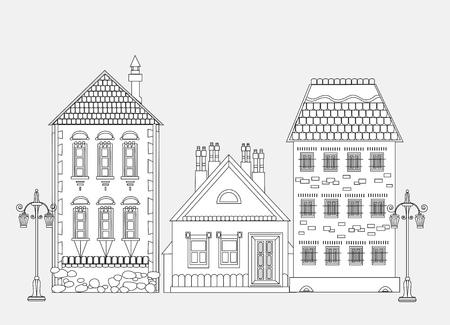 neighbor: City house, very detailed editable doodle