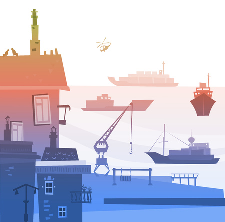 port: Port of big City, illustration