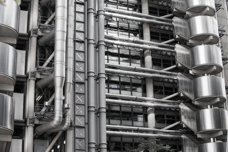 lloyds: LONDON UK - SEPTEMBER 19, 2015 -  Lloyds of London bank building, famous texture. City of London